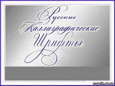 Русские каллиграфические шрифты 2008